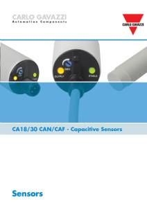 Brosjyre Kapasitive givere CA18 og CA30 serien