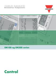 EM100 og EM300 serien energimålere