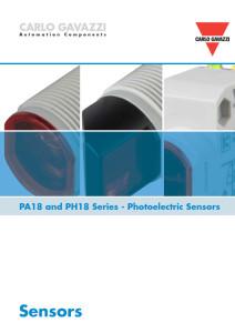 Fotoceller serie PA18 og PH18
