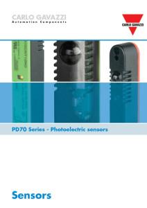 Fotoceller serie PD70