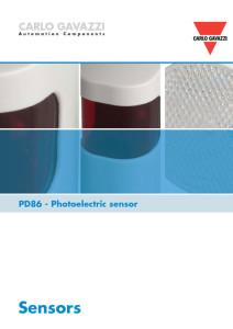 Fotoceller serie PD86