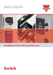 Produktoversikt Frekvensomformere