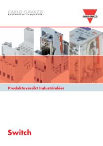 Industrireleer og hjelpereleer RMIA og RCP serien