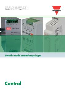 Switch mode strømforsyninger fra Carlo Gavazzi