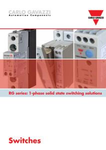 Solid state releer (SSR) RG-serien