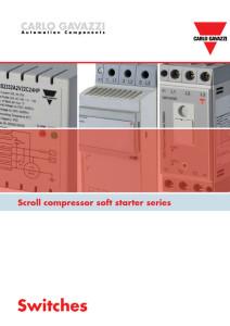 Mykstartere for skrukompressorer serie RSBS, RSBD og RSBT