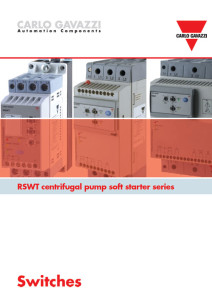 Mykstartere for sentrifugalpumper i serie RSWT fra Carlo Gavazzi