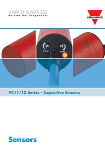 Kapasitive nivågivere VC11 og VC12