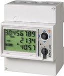 Energimåler 3-fase 230/400VAC maks. 65A med releutganger