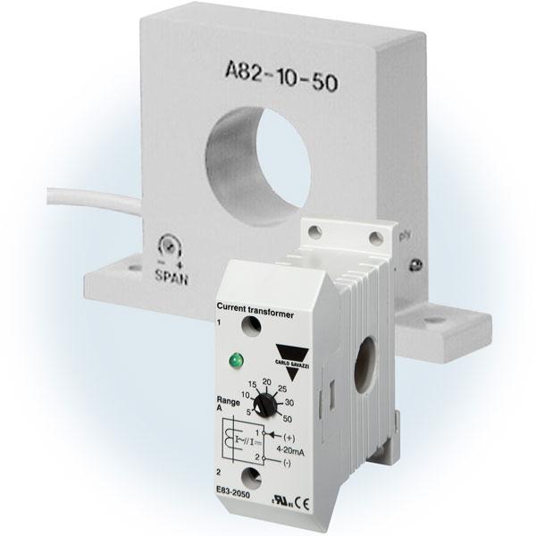 Strømtransformatorer med utgang 20mA/10VDC