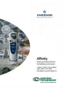 Frekvensomformer Affinity fra Emerson, Nidec, Control Techniques. Brosjyre.