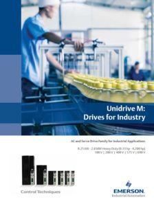 Frekvensomformere Unidrive M-serie. Control Techniques, Nidec, Emerson. Brosjyre 2016.