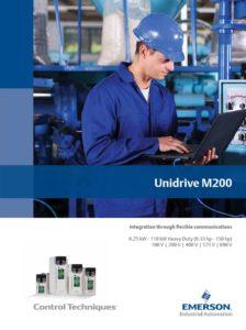 Frekvensomformer Unidrive M200 fra Emerson, Nidec, Control Techniques. Brosjyre.