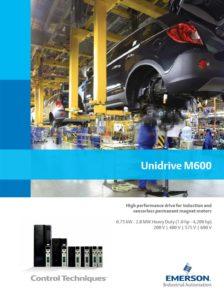 Frekvensomformer Unidrive M600-serien. Control Techniques, Nidec, Emerson. Brosjyre.