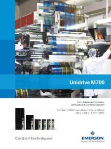 Frekvensomformer Unidrive M700-serien. Control Techniques, Nidec, Emerson. Brosjyre.