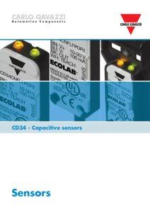 Kapasitive givere CD34 med Ecolab godkjenning og IP69K fra Carlo Gavazzi - brosjyre