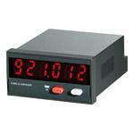 Elektronisk pulsteller. 24x48mm med 6 siffer. 10-30 VDC. Panelmontasje. Med reset.