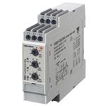 Strømmålerele AC/DC maks. 500mA. DIN-skinne montasje.