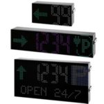 Displayer til Car Park parkeringsystem fra Carlo Gavazzi