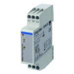 Nettovervåkingsrele 3-fase AC. Nettspenning 208-480 VAC. Fase-rekkefølge