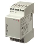 Nettovervåkingsrele 3-fase AC. Fasefølge/brudd. 2 releutganger. Modulærutførelse.