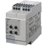 Nettovervåkingsrele 3-fase AC.  Fasefølge/-brudd samt over-/underspenning eller spennings asymmetri og tolleranse. For DIN-skinne.