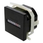 Elektromekanisk timeteller 48x48mm. 230 VAC. Panelmontasje.. Driftsspenning 230 VAC. Inngang er egen nettforsyning. 7 siffer. Uten reset.