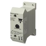 Tidsrelè med forsinket innkobling. Tidsområde 1-10m. 2-leder 24-230 VAC/DC. DIN-skinne montasje.