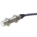 Induktiv giver. M12 utførelse. 2-leder AC utgang. NO. 2mm føleavstand. Rustfritt stål. 2m kabel.