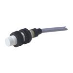 Induktiv giver. M12 utførelse. PNP utgang. NO. 4mm føleavstand. Kunststoff. 2m kabel.