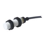 Induktiv giver. M18 utførelse. 2-leder AC utgang. NO. 5mm føleavstand. Kunststoff. 2m kabel.