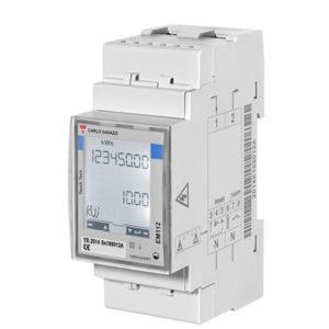 1-fase energimåler/forbruksmåler kWh serie EM112