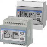 EM210 energimåler (kWh-måler) som både kan monteres på DIN-skinne eller panelmonteres