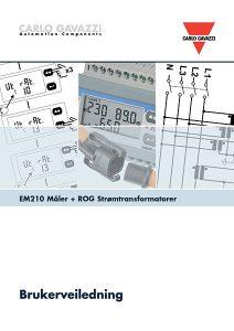 Brukerveiledning EM210 energimåler + ROG strømtransformatorer fra Carlo Gavazzi