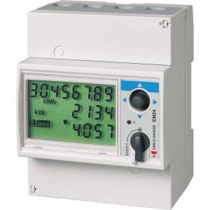 EM24-DIN 3-fase energimåler (kWh) for direkte måling (direktemåler) eller måling via strømtransformatorer (trafomåling)