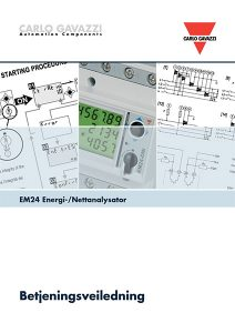 Betjeningsveiledning EM24 energimåler / nettanalysator fra Carlo Gavazzi