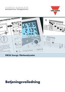 Betjeningsveiledning EM26 energimåler / nettanalysator fra Carlo Gavazzi
