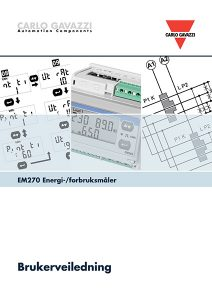 Brukerveiledning EM270 energimåler / forbruksmåler fra Carlo Gavazzi