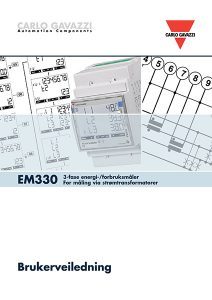 Brukerveiledning EM330 energimåler / forbruksmåler for måling via strømtransformatorer fra Carlo Gavazzi