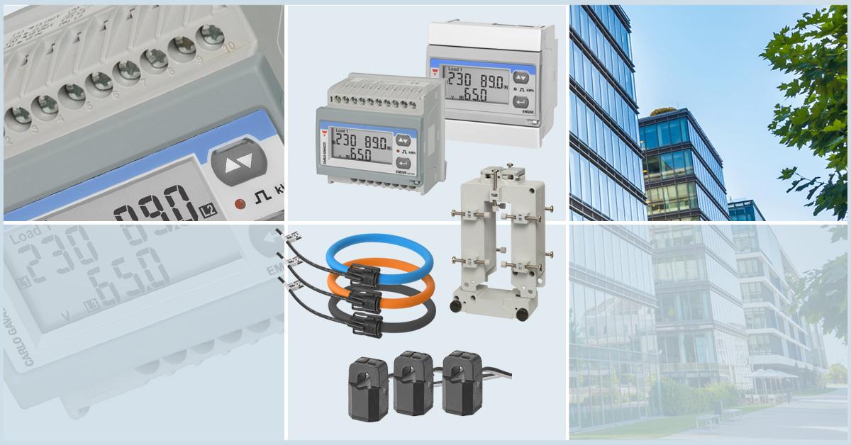 Energimåler EM210 og delbare strømtransformatorer ROG + CTV