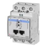 ET340 3-fase energimåler uten display med byggebredde 3-moduler.