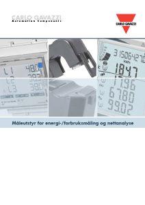Katalog fra Carlo Gavazzi angående energiprodukter - Måleutstyr for energimåling / forbruksmåling og nettanalyse