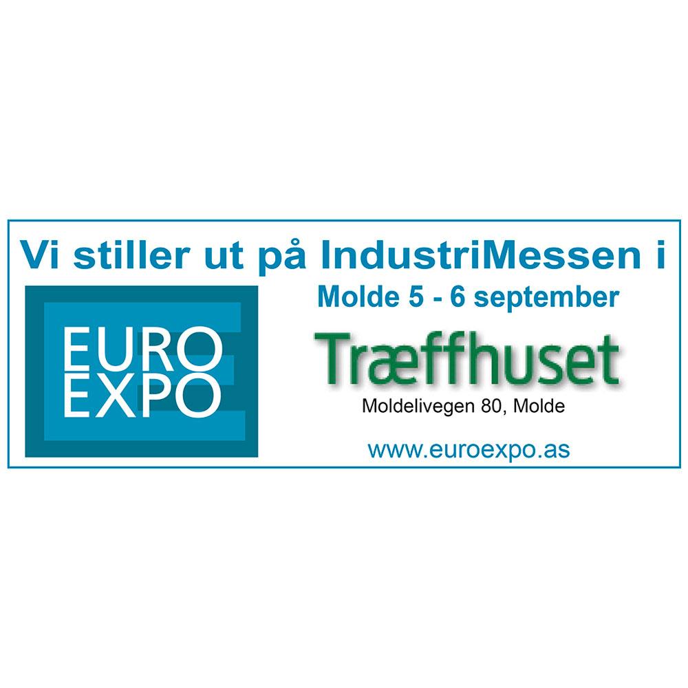 Vi stiller ut på Industrimessen Euro Expo i Molde 2018