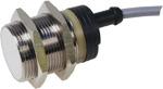 Induktiv giver. M30 utførelse. PNP utgang. NO. 15mm føleavstand. Forniklet messing. 2m kabel.