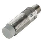 Induktiv giver. M18 utførelse. PNP utgang. NO. 12mm føleavstand. Rustfritt stål. M12 plugg.
