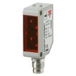 Fotocelle i 5m hus. Kunststoff. PNP NO/NC. 5m rekkevidde. PNP. NO/NC. M8 plugg. 10-30VDC forsyningsspenning. Synlig LED