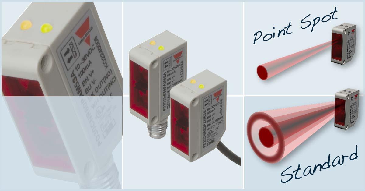 "Fotoceller med ""point spot"" teknologi"