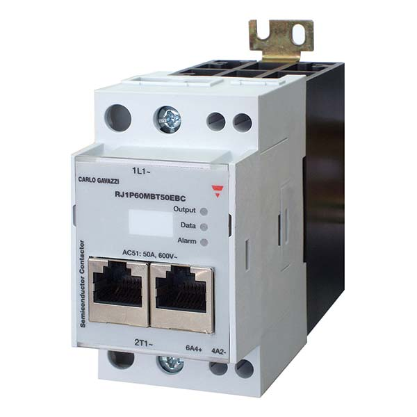 Solid state effektregulator RJ1P_MBT50E med integrert kjøleribbe fra Carlo Gavazzi