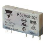 5-pins hjelperele med 1 vekselkontakt. Spolespenning 24VDC.