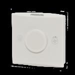 Romføler for Modbus kommunikasjon uten Display. Utførelse Hvit Vifteknapp Mann i hus-knapp. Måleområde 0...50 °C